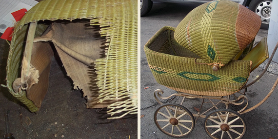Restoration of a early 19th century doll buggy.