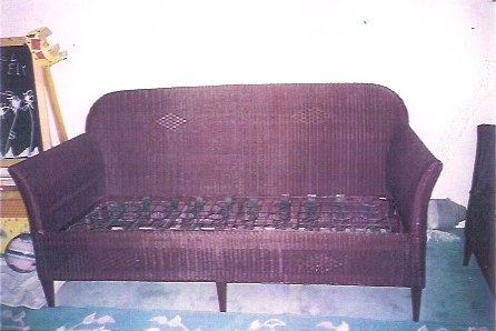 1920s Lloyd Flanders Sofa Repaired